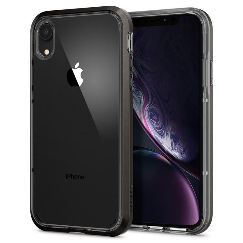 Spigen Neo Hybrid Crystal iPhone XR Case Grijs Transparant 06