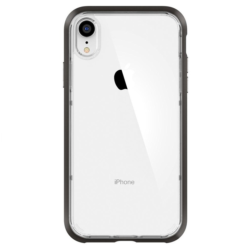 Spigen Neo Hybrid Crystal iPhone XR Case Grijs Transparant 01