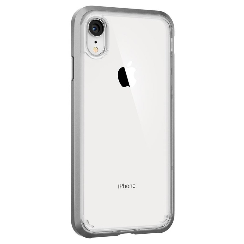 Spigen Neo Hybrid Crystal iPhone XR Case Zilver Transparant 05