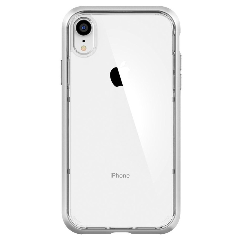 Spigen Neo Hybrid Crystal iPhone XR Case Zilver Transparant 01