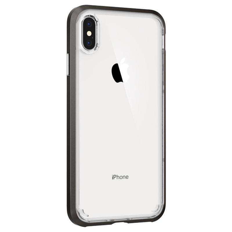 Spigen Neo Hybrid Crystal iPhone XS Max Hoesje Gunmetal Transparant 02