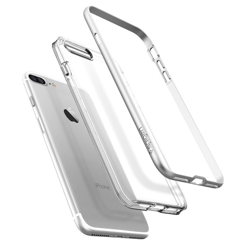 Spigen Neo Hybrid Crystal iPhone 7 Plus Satin Silver/Clear - 3