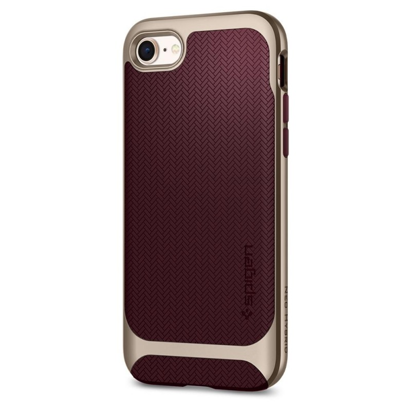 Spigen Neo Hybrid Herringbone Phone 8/7 Burgundy - 6