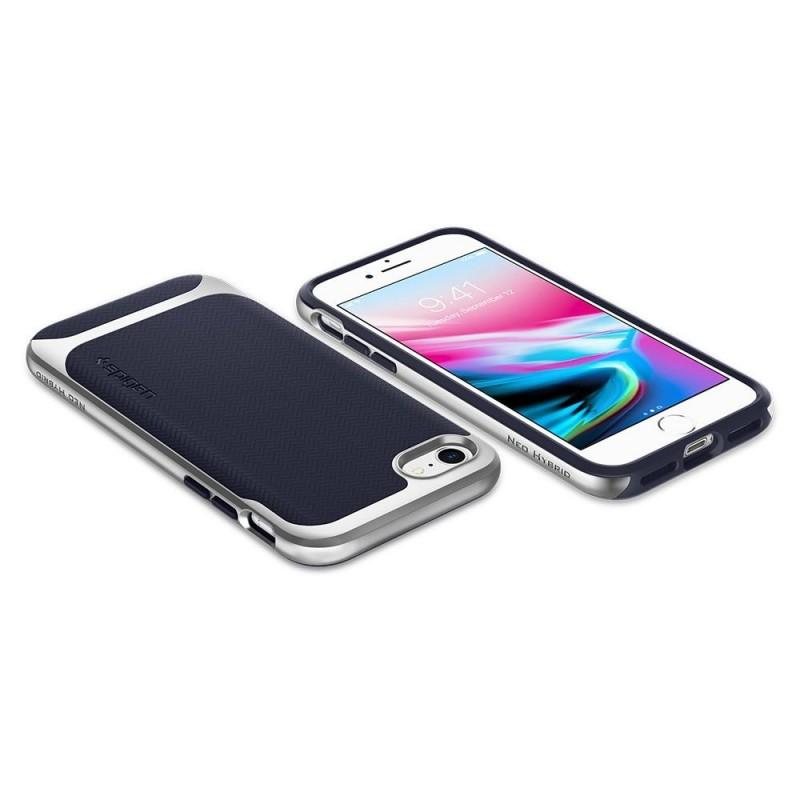 Spigen Neo Hybrid Herringbone Phone 8/7 Zilver - 3