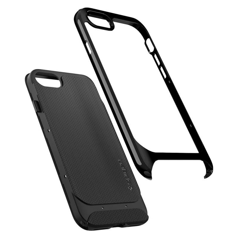 Spigen Neo Hybrid Herringbone Phone 8/7 Zwart - 2