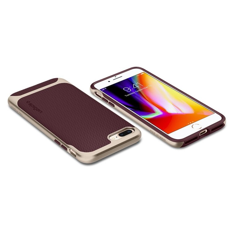 Spigen Neo Hybrid Herringbone iPhone 8 Plus/7 Plus Burgundy - 2