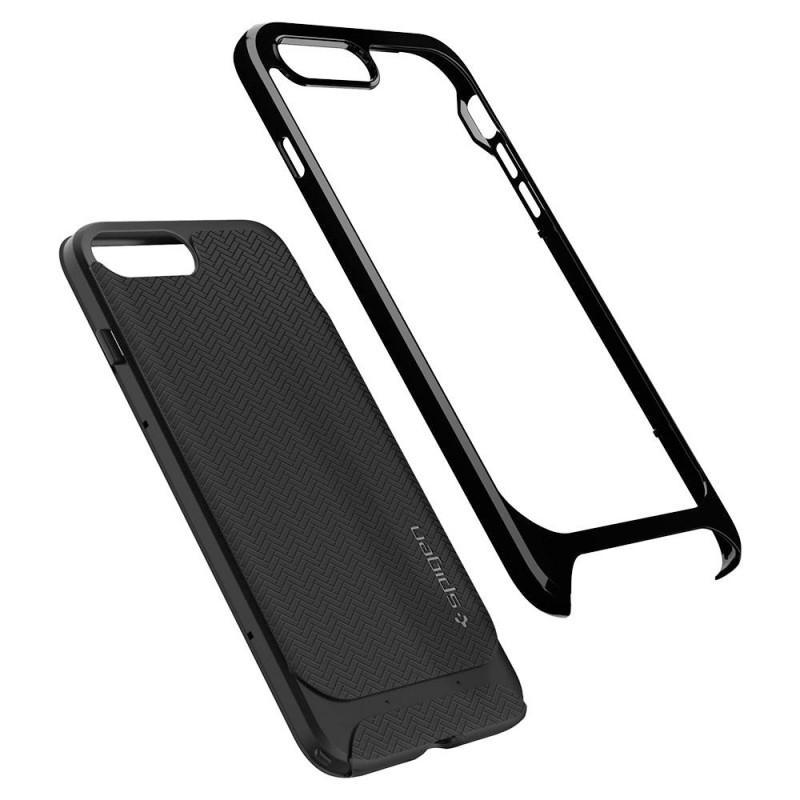Spigen Neo Hybrid Herringbone iPhone 8 Plus/7 Plus Hoogglans Zwart - 3