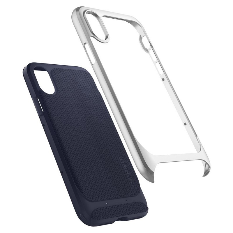 Spigen Neo Hybrid iPhone X Artic Blue/Silver - 2