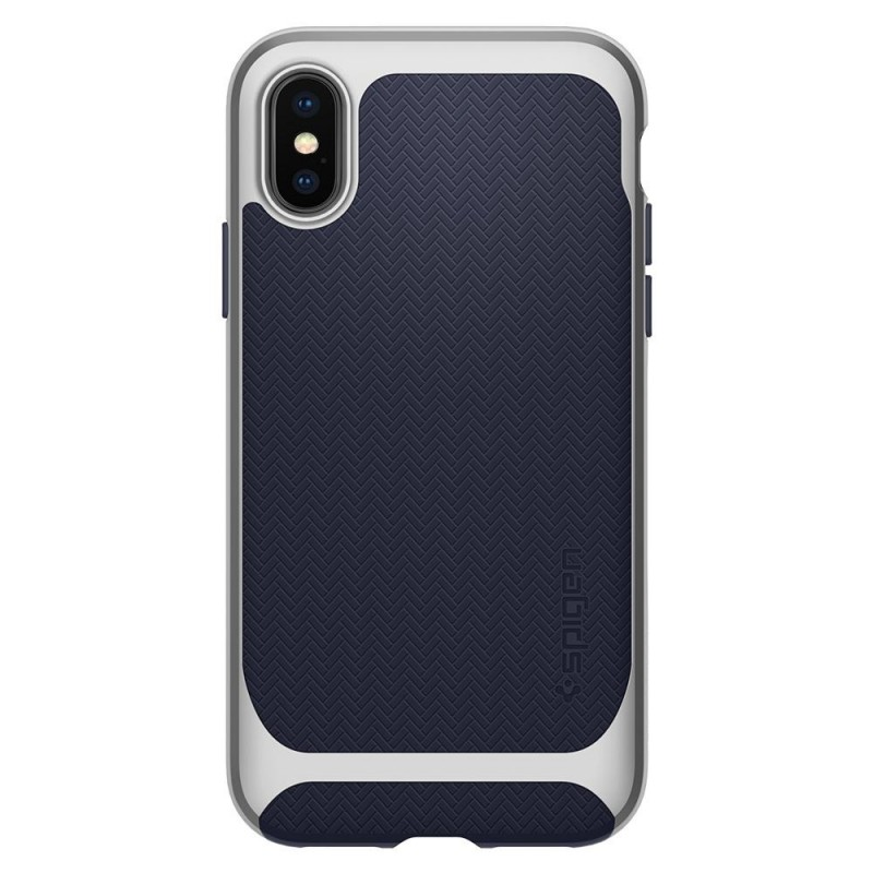 Spigen Neo Hybrid iPhone X Artic Blue/Silver - 5