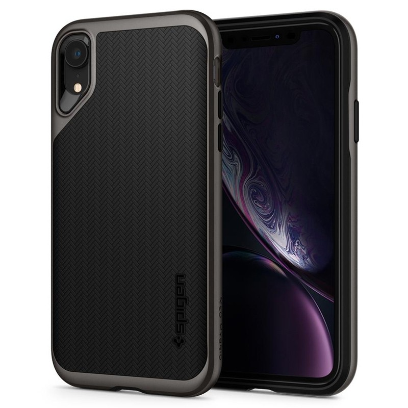 Spigen Neo Hybrid Case iPhone XR Grijs Zwart 01