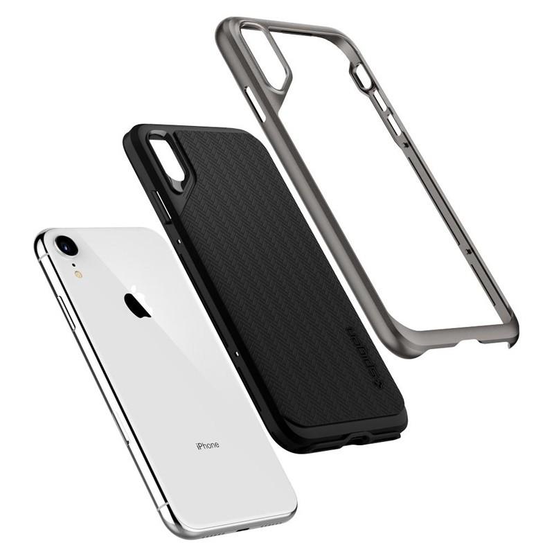 Spigen Neo Hybrid Case iPhone XR Grijs Zwart 03