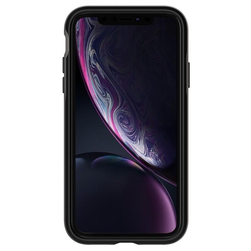 Spigen Neo Hybrid Case iPhone XR Grijs Zwart 02