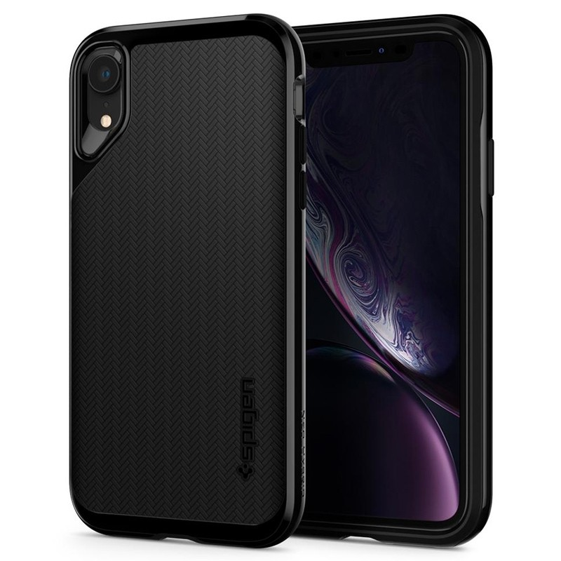 Spigen Neo Hybrid Case iPhone XR Grijs Jet Black 01