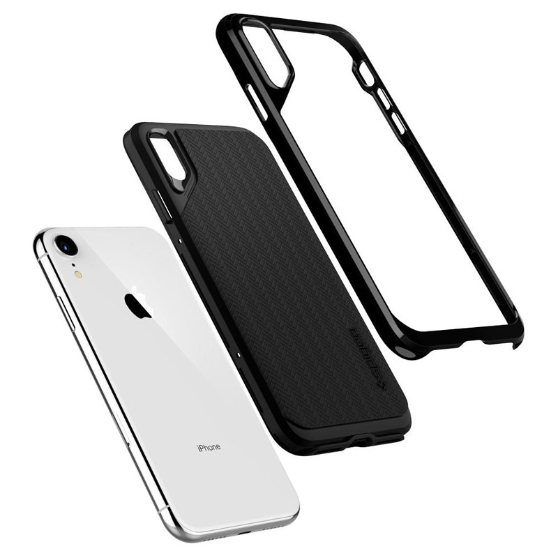 Spigen Neo Hybrid Case iPhone XR Grijs Jet Black 03