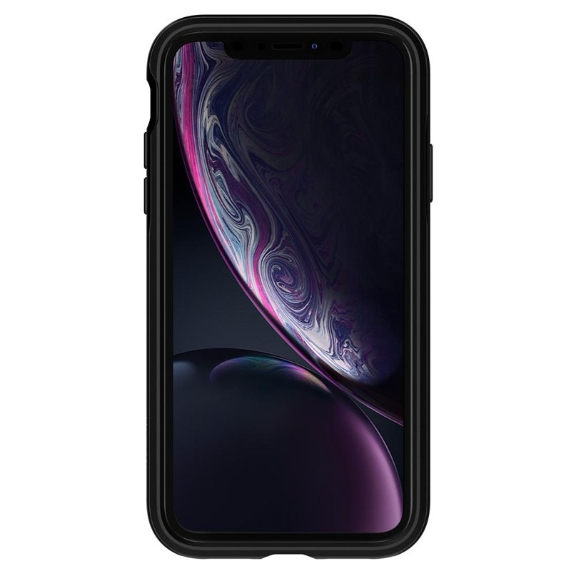 Spigen Neo Hybrid Case iPhone XR Grijs Jet Black 02