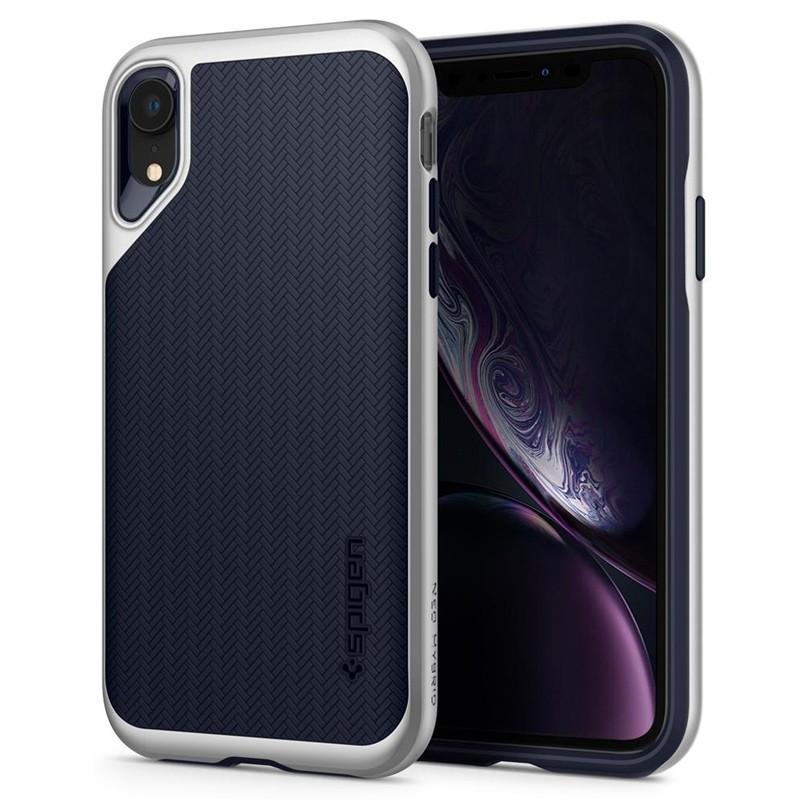 Spigen Neo Hybrid Case iPhone XR Silver Blue 01