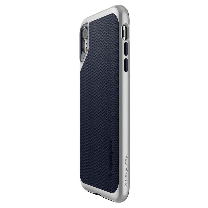 Spigen Neo Hybrid Case iPhone XR Grijs Jet Black 07