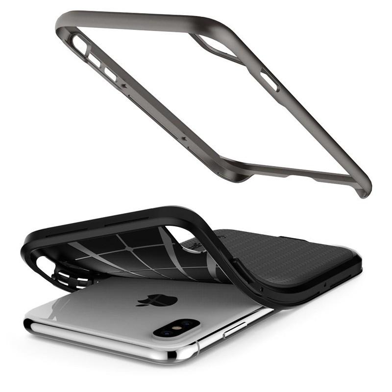 Spigen Neo Hybrid iPhone XS Max Hoesje Gunmetal 04