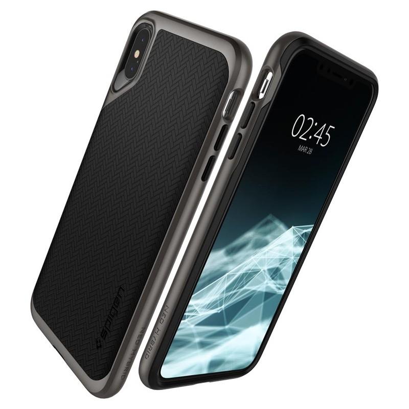 Spigen Neo Hybrid iPhone XS Max Hoesje Gunmetal 05