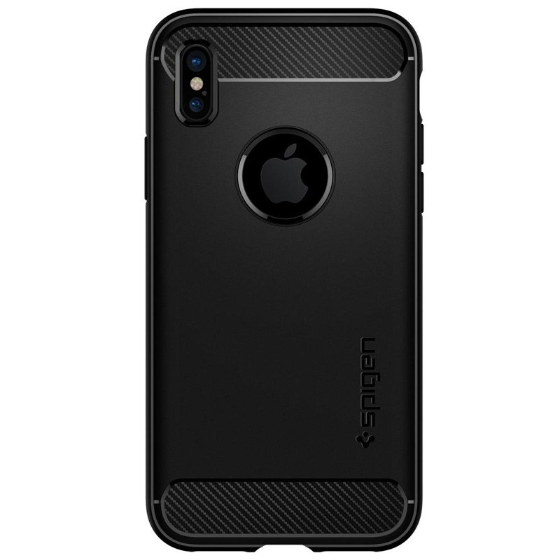 Spigen - Rugged Armor iPhone 8 Hoesje Black 02