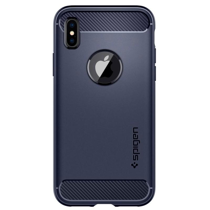 Spigen Rugged Armor iPhone X/Xs Midnight Blue - 5