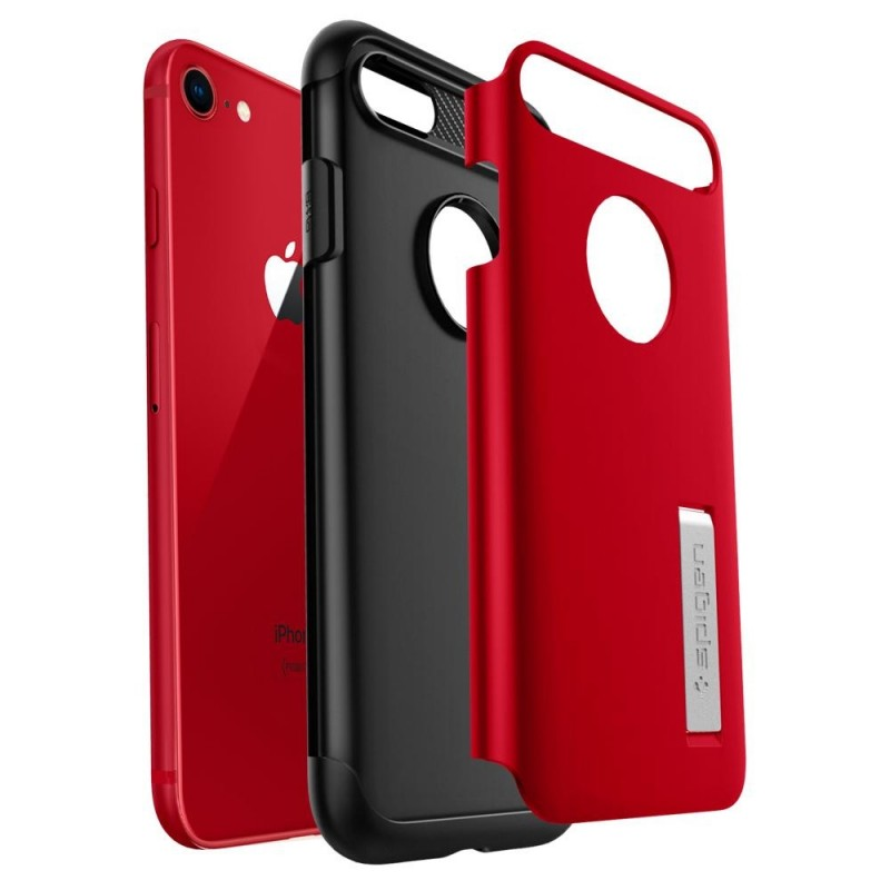 Spigen Slim Armor Case Phone 8/7 Rood - 3