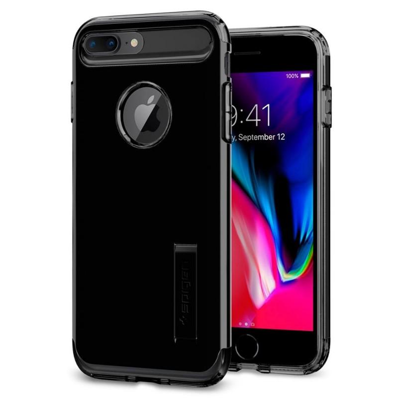 Spigen Slim Armor Case iPhone 8 Plus/7 Plus Git Zwart - 1