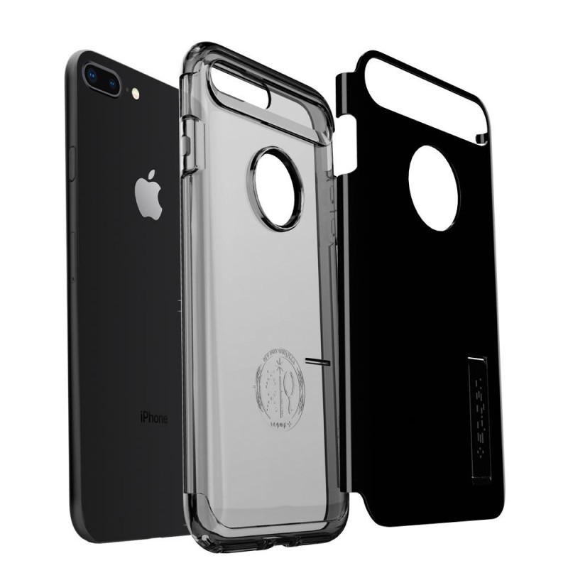 Spigen Slim Armor Case iPhone 8 Plus/7 Plus Git Zwart - 3