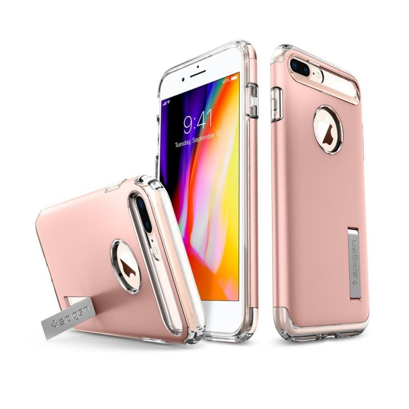 Spigen Slim Armor Case iPhone 8 Plus/7 Plus Roze - 3