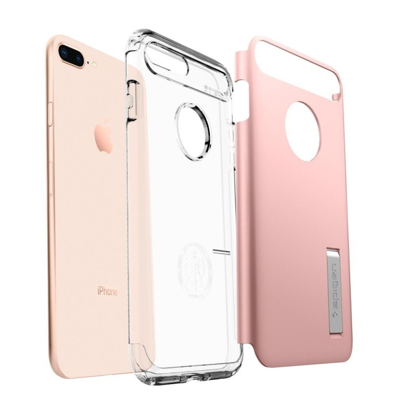 Spigen Slim Armor Case iPhone 8 Plus/7 Plus Roze - 2