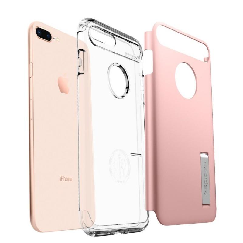 Spigen Slim Armor Case iPhone 8 Plus/7 Plus Roze - 2