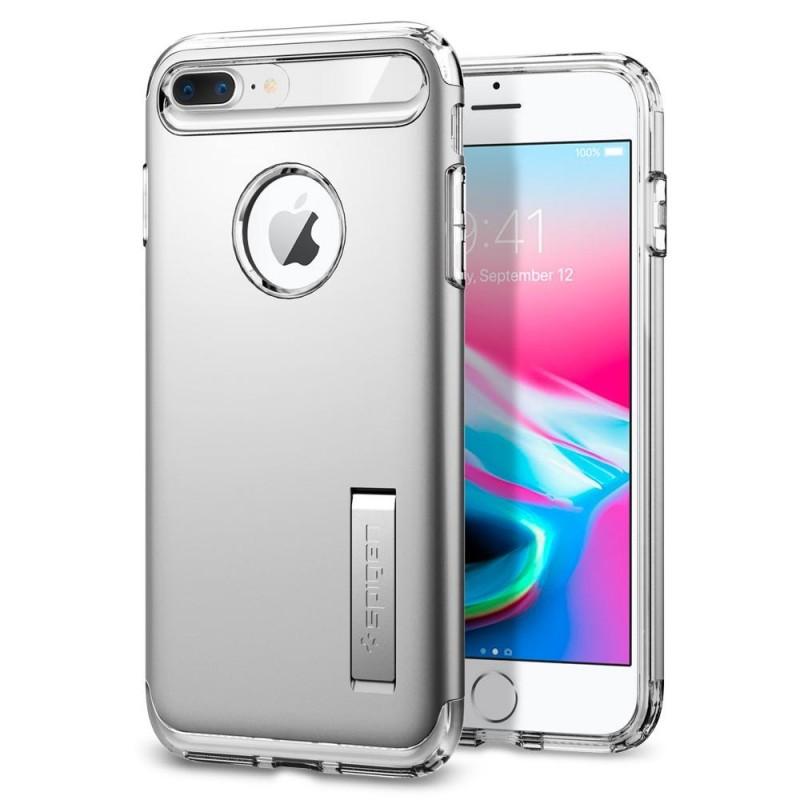 Spigen Slim Armor Case iPhone 8 Plus/7 Plus Zilver - 1