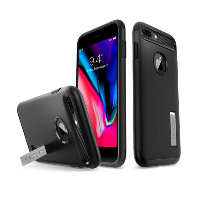 Spigen Slim Armor Case iPhone 8 Plus/7 Plus Zwart - 3