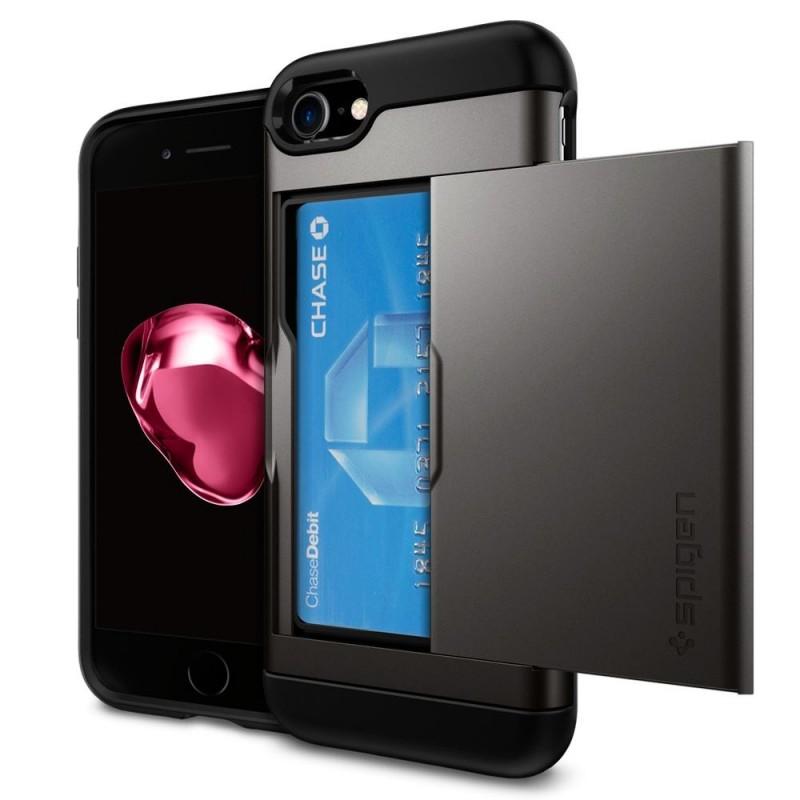 Spigen Slim Armor CS iPhone 8/7 Hoesje Gunmetal - 1