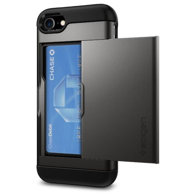 Spigen Slim Armor CS iPhone 8/7 Hoesje Gunmetal - 2