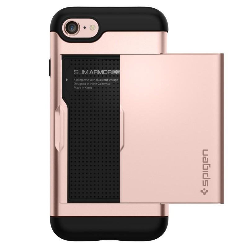 Spigen Slim Armor CS iPhone 8/7 Hoesje Rose Goud - 6