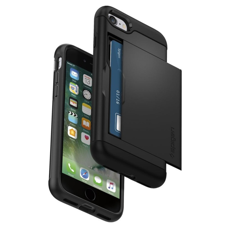 Spigen Slim Armor CS iPhone 8/7 Hoesje Zwart - 4
