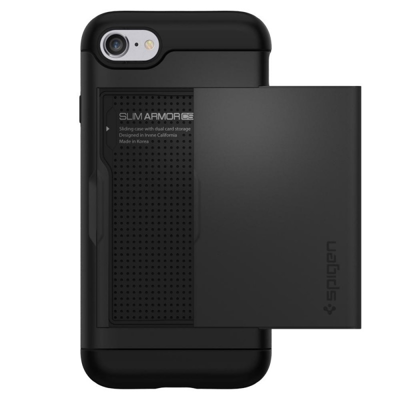 Spigen Slim Armor CS iPhone 8/7 Hoesje Zwart - 6