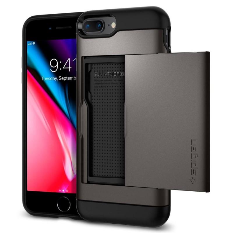 Spigen Slim Armor CS iPhone 8 Plus/7 Plus Gunmetal - 1