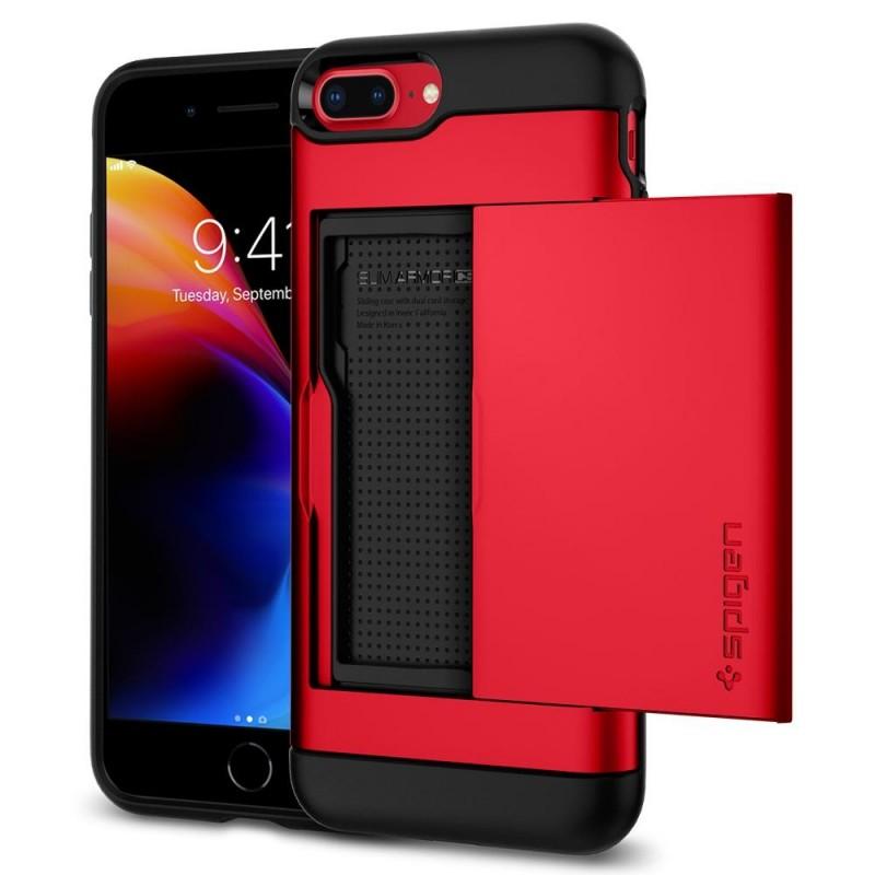 Spigen Slim Armor CS iPhone 8 Plus/7 Plus Rood - 1