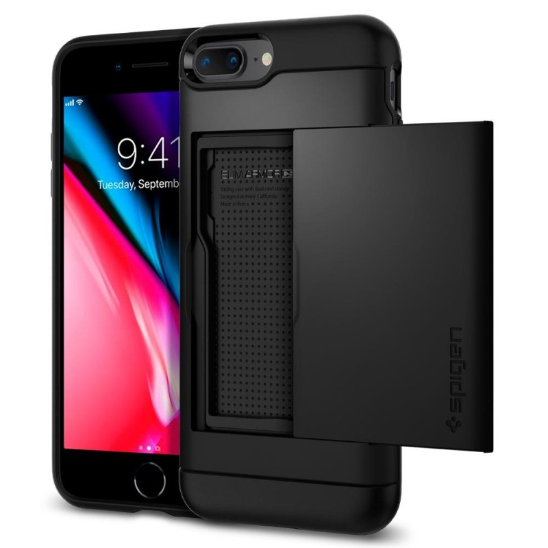 Spigen Slim Armor CS iPhone 8 Plus/7 Plus Zwart - 1