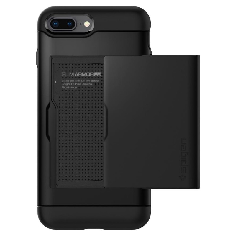 Spigen Slim Armor CS iPhone 8 Plus/7 Plus Zwart - 2
