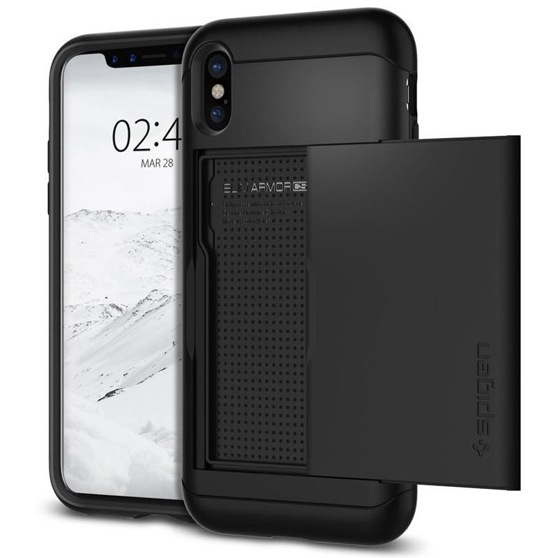 Spigen - Slim Armor CS iPhone 8 Hoesje Black 01