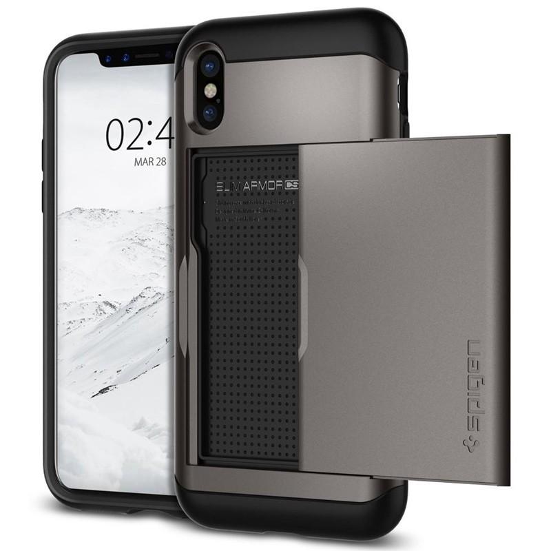 Spigen - Slim Armor CS iPhone 8 Hoesje GunMetal 01