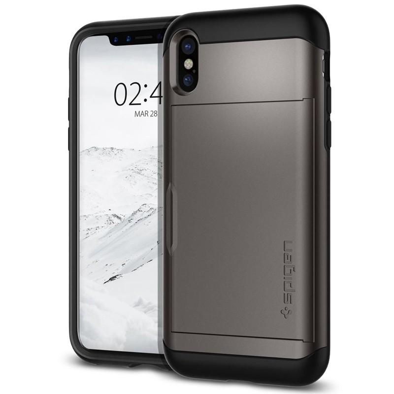 Spigen - Slim Armor CS iPhone 8 Hoesje GunMetal 04