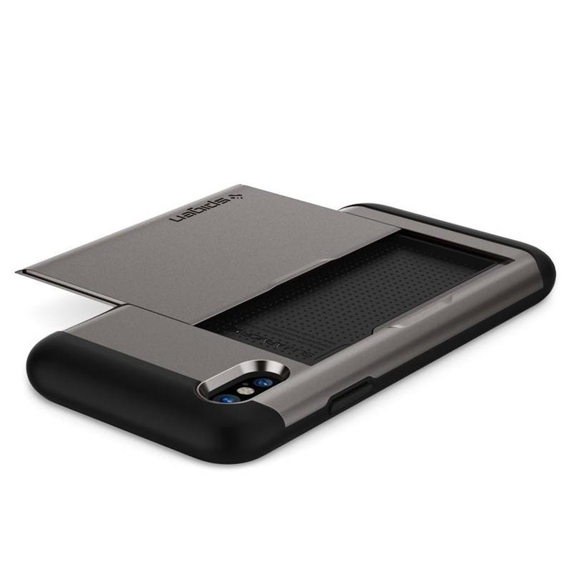 Spigen - Slim Armor CS iPhone 8 Hoesje GunMetal 05