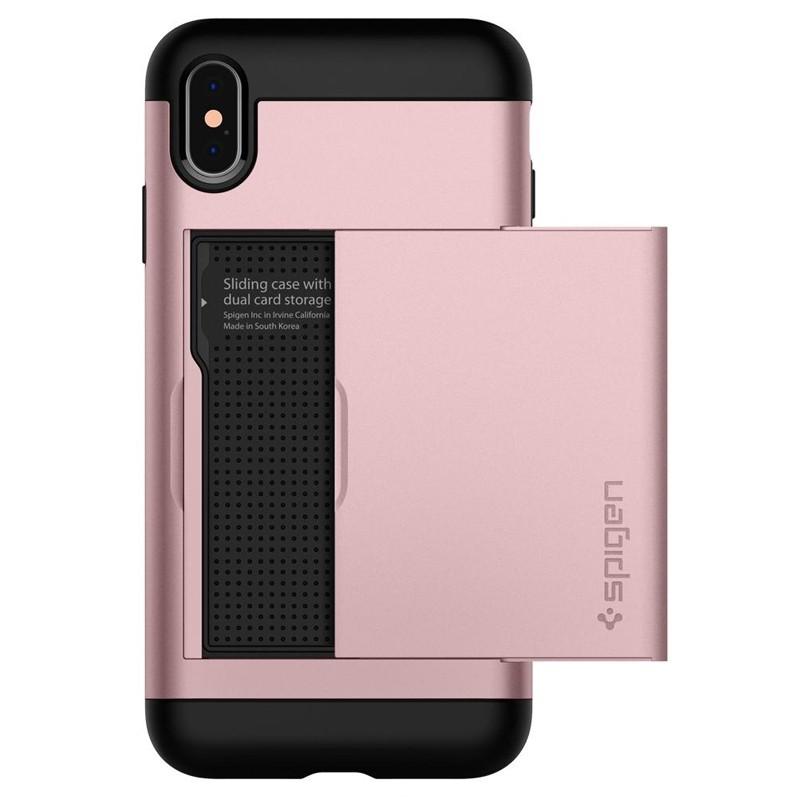 Spigen Slim Armor CS iPhone XS Max Hoesje Roze 01