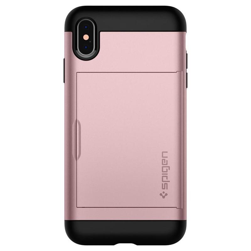 Spigen Slim Armor CS iPhone XS Max Hoesje Roze 02