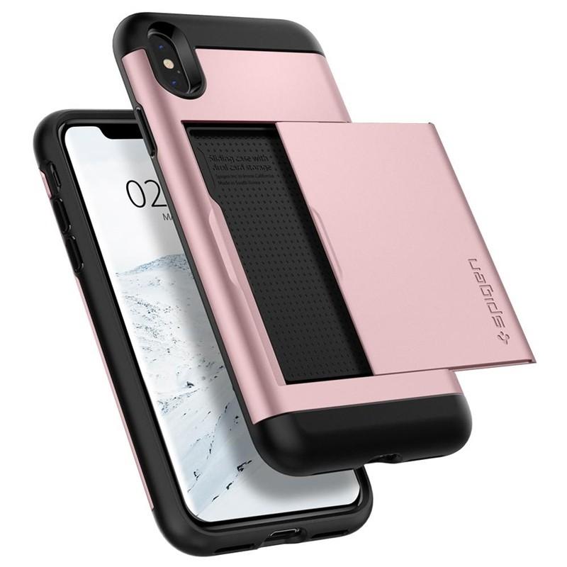 Spigen Slim Armor CS iPhone XS Max Hoesje Roze 05