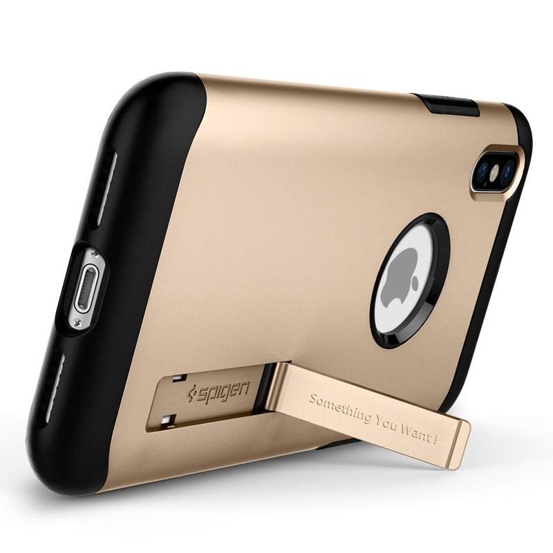 Spigen - Slim Armor iPhone 8 Hoesje Champagne Gold 02